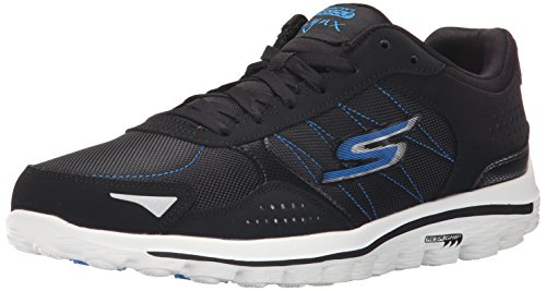 Skechers Performance Men's Go Walk 2-Lynx Balistic Walking Shoe, Black/Blue, 9.5 M US (Skechers Golf Shoes compare prices)