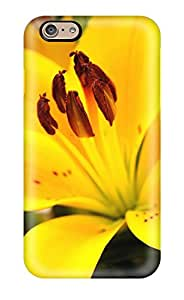 6253191K50611852 Iphone 6 Well-designed Hard Case Cover Yellow Flowers Protector