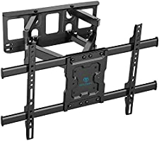 TV Wall Bracket Swivels Tilts Extends, Full Motion TV Wall Mount for Most 37-70 Inch Flat&Curved TVs, Holds up to 60kg,...