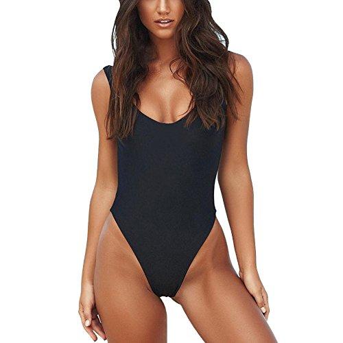 3a6e45d4c8687 Vikinii Women Retro High Cut One Piece Swimsuit Red Monokini Black White  Bathing Suits Plus Size