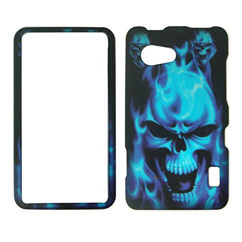 Lg Blue Phone Faceplates (2D Blue Skull LG Mach LS860 Boosts Mobile, Sprint Case Cover Phone Snap on Cover Case Faceplates)