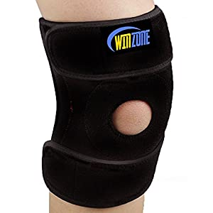 Knee Brace Support Sleeve For Arthritis, ACL, Running, Basketball, Meniscus Tear, Sports, Athletic. Open Patella Protector Wrap, Neoprene, Non-Bulky, Relieves Pain,, Best Braces