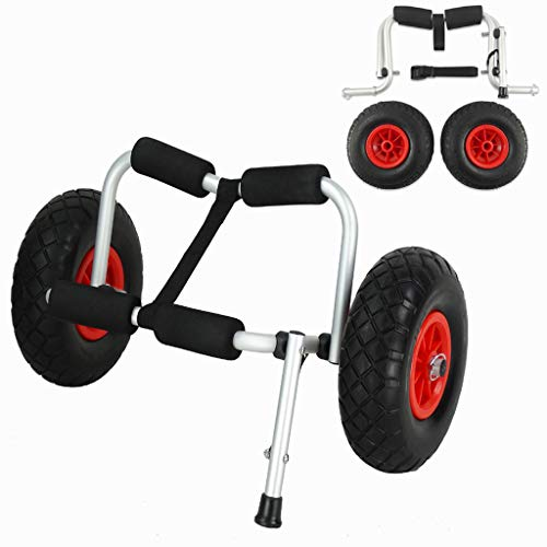 Wistar Kayak Cart Boat Trolley for Carrying Kayaks, Canoes, Paddleboards, Float Mats, and Jon Boats Wheel Capacity 220 Pound,One Leg