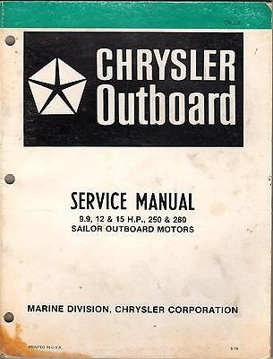 1980 Chrysler Sailor Outboard 9.9, 12 & 15 H. P., 250 & 280 Service Manual
