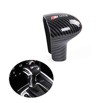 Carbon Fiber Gear Shift Knob Cover Sticker Head Trim for Audi A4 A5 A6 S6 A7 S7 Q5 Q7: Automotive