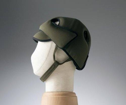 特殊衣料8-6514-01保護帽[アボネットガードD]幼児サイズオリーブ B07BD3124L