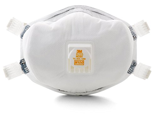 3M 8233 N100 Disposable Respirator With Cool Flow Exhalation Valve (CASE OF 10) by 3M (Image #1)