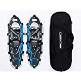 "Carryown Snowshoes Snow Shoes 14"" /21""/ 25""/ 27""/ 30"" for Adults Men Women Youth Kids with Pair Antishock Snowshoeing Poles, Adjustable Ratchet Binding, Free Carrying Tote Bag"
