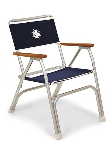 FORMA MARINE Deck Chair, Boat Chair, Folding, Anodized, Aluminium, Navy Blue