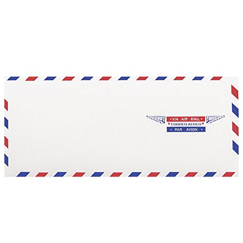 "JAM Paper #10 Airmail Business Envelopes - 4 1/8"" x 9 1/2"" - 50/pack"