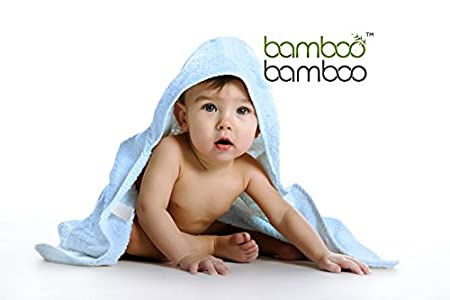 Organic Bamboo Hooded Baby Bath Towel Naturally Hypoallergenic Anti-Bacterial and Ultrasoft (75cm x 75cm) (Blue) J Remoir