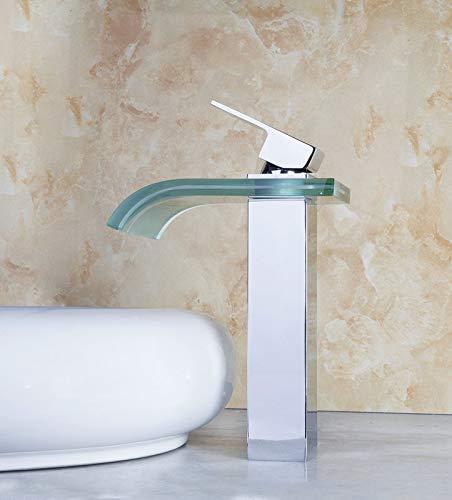 Decorry Nagelneu und Höhe Qualität Messing Wasserfall Waschbecken Wasserhahn 8220 Badezimmerhahn Mischer torneira banheiro Warmen und Kalten Wasserhahn