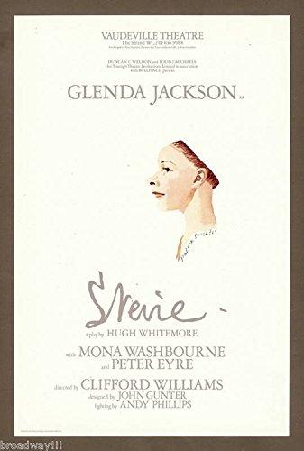 """Glenda Jackson """"STEVIE"""" (Smith) Hugh Whitemore / Peter Eyre 1977 London Flyer"""