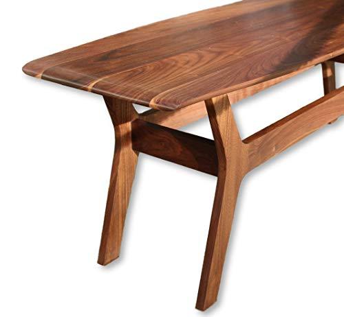 The Noll - Wide Body Danish Mid Century Surfboard Coffee Table in Walnut