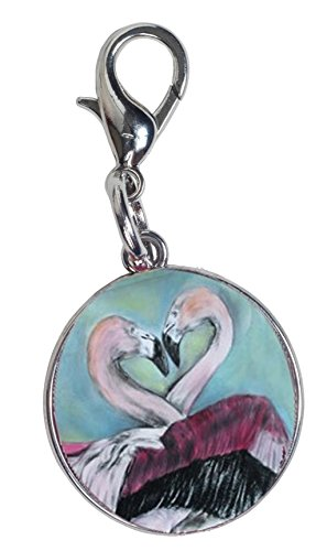 Salvador Kitti Flamingo Zipper Pull Charm, Bag Charm - Animal, Synchronous Nesting