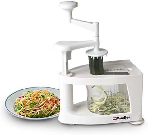 Müeller Spiral-Ultra Professional Spiralizer, 8 into 1 Spiral Slicer, Heavy Duty Vegetable Pasta Maker and Mandoline Slicer for Low Carb/Paleo/Gluten-Free Meals