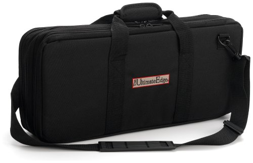- The Ultimate Edge 2001-EVO 18-Piece Knife Case with Full Accessory Compartment, Black