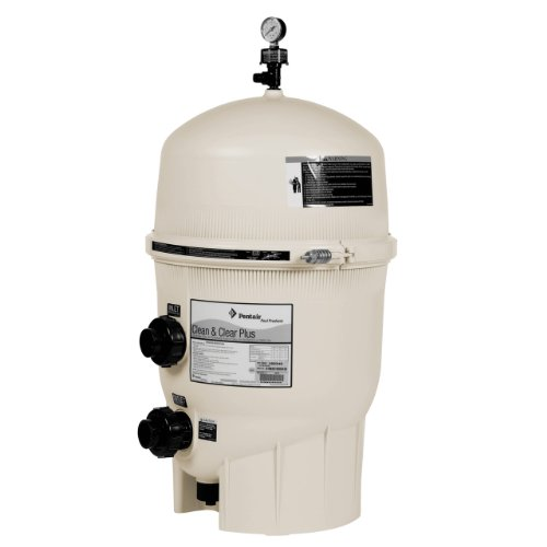 Pentair 160340 Clean & Clear Plus Fiberglass Reinforced Polypropylene Tank Cartridge Pool Filter, 320 Square Feet, 120 GPM (Residential)