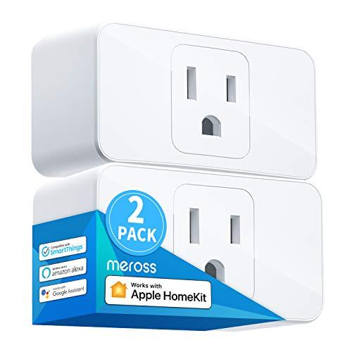 Meross Smart Plug Mini, 15A & Reliable Wi-Fi, Support Apple HomeKit, Siri, Alexa, Echo, Google Assistant, Nest Hub and…