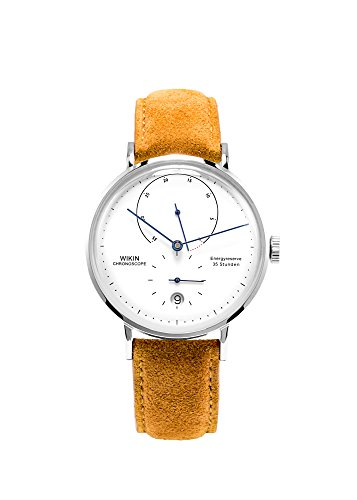 Swiss Automatic Men's Watch, Stainless Steel Leather Nubuck Bands Watches Waterproof Calendar for Men ()
