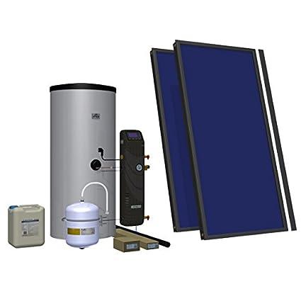 200l solares 2 paneles térmicos sistema de calefacción de agua caliente adecuada para una familia de