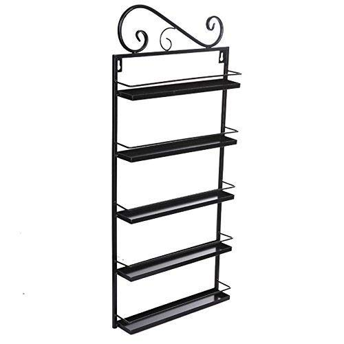 5 Tier Nail Polish Rack, Multi-Purpose Wall Mounted Organizer Display Shelf for 50 Nail Polishes at Home Business Spa Salon by Garain (Image #5)