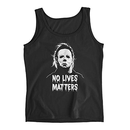 Poogky Women's Michael Myers No Lives Matter Ladies Tank Top (M, Black)