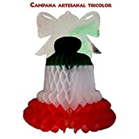 Campana artesanal tricolor/Tricolor handmade bell