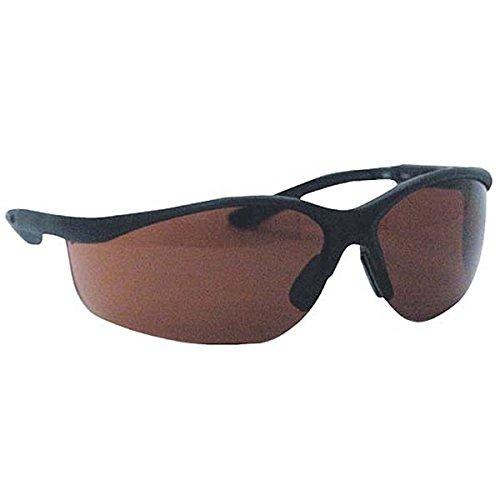 Ironwear Porter 3300 Series Nylon Protective Safety Glasses, Sun Block Bronze Lens, Black Frame (3300-B-SBB)