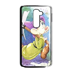 Disney Snow White And The Seven Dwarfs Character Dopey LG G2 Cell Phone Case Black PhoneAccessory LSX_714044