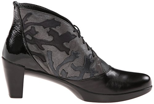 Naot Boot Baccio Shadow Gray Black Nubuck Madras Women's AwPwqR