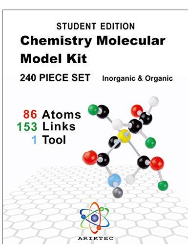 Organic Chemistry Model Kit 240 Pieces (239 pcs + Tool) - Molecular Model Kit- Students Set - Atoms Bonds and Instructional Guide - Student Set-Chemistry Model kit-by Ariktec