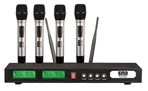 EMB UHF EMIC2400A Professional Quad / 4x Wireless Microphone System by EMB