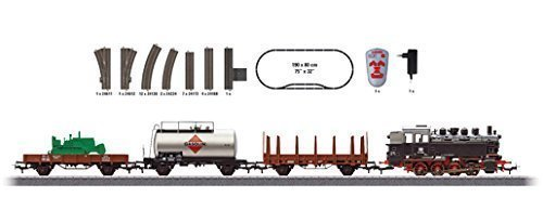 DIGITAL FREIGHT TRAIN STARTER SET W/PASSING SIDING - 3-RAIL -- GERMAN FEDERAL RAILWAY