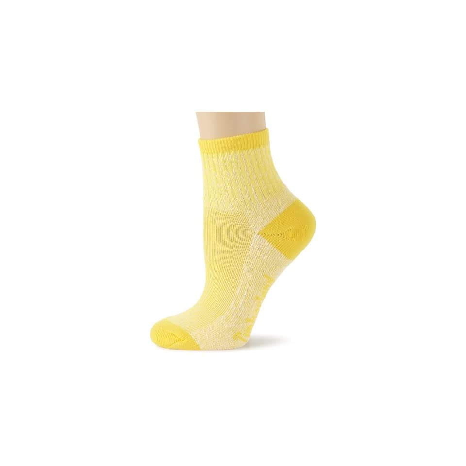 Timberland Womens Thermo Cool Quarter 2 Pair Socks, Yellow, One Size