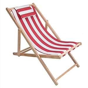Amazon.com: YUNHAO Silla de playa plegable de madera maciza ...