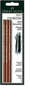 Faber-Castell - Juego de lápices de carboncillo (3 unidades)