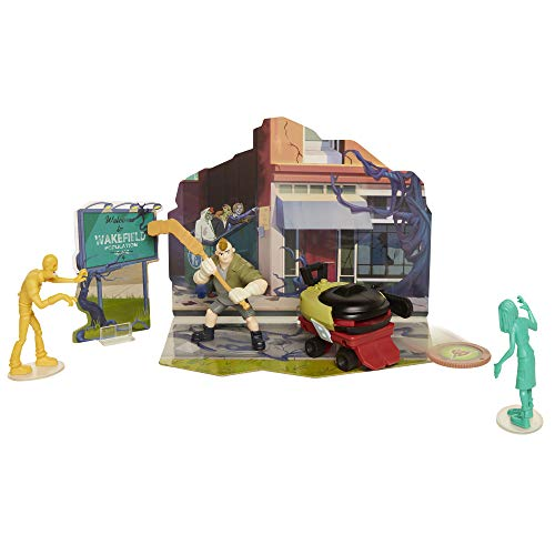 The Last Kids On Earth Toys Dirk Action Figure 2.5″ – Hero Pack Playset with 2 Zombies & Disk Launcher