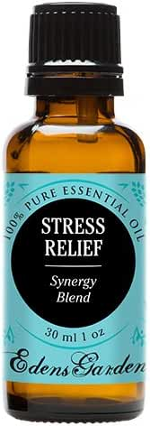 Stress Relief Synergy Blend Essential Oil by Edens Garden (Bergamot, Patchouli, Blood Orange, Ylang Ylang & Grapefruit)- 30 ml