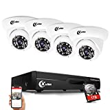 XVIM 8CH 1080P Video Security Camera DVR System, 4 HD 2.0MP Indoor Outdoor Dome CCTV Surveillance Cameras with 85ft Night Vision, 1TB Hard Drive