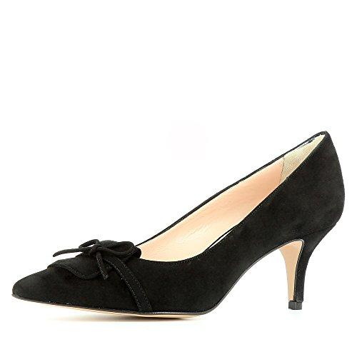 Shoes Escarpins Daim Femme Giulia Evita Noir fgEqwg