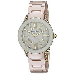 Swarovski Crystal Accented With Ceramic Bracelet Watch