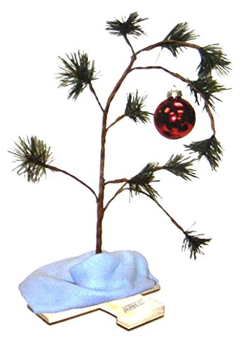 Product Works 24-Inch Charlie Brown Christmas Tree with Linus's Blanket Holiday Décor, Classic Ornament (Decor Trees)