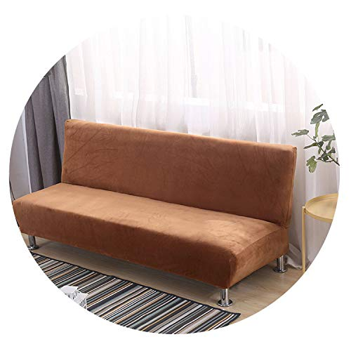 Thick Plush Spandex Sofa Bed Cover All-Inclusive Slipcover Without Armrest Folding Sofa Cover Couch Cover Patio Furniture 2Sizes,Color 13,S 160-195cm