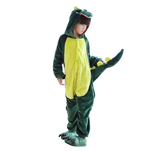 Hstyle Kids Unisex Cosplay Pajamas Onesie Dinosaur Halloween Christmas Costumes -