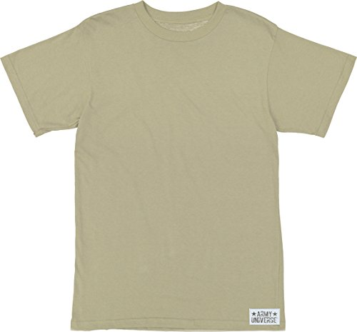 Army Universe Desert Tan/Sand Military T-Shirt, Cotton Army ACU Uniform Tee Pin Size Large / 41