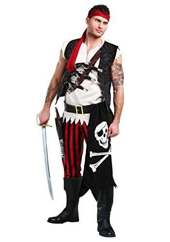 Men's Fighting Deckhand Pirate Costume - ()