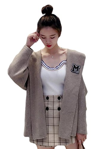 topmodelss 秋服 カーディガン 長袖 レディース トップス 無地 フード付き シンプルボレロ 前開き ゆったり 可愛い コート 韓国風 女性用 ファッション ワンサイズ