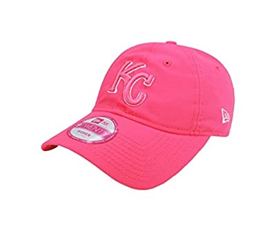 New Era MLB Kansas City Royals WOMEN'S HAT Fashion Essential Pink Adjustable CAP