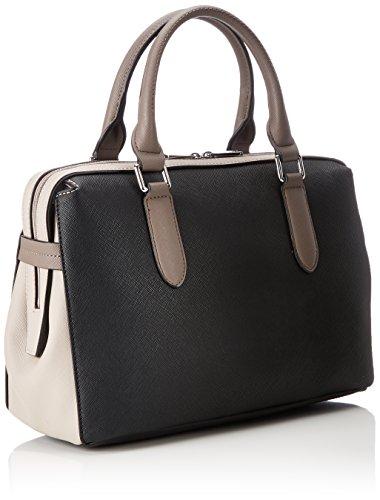 L.CREDI Damen Athen Bowling Tasche, 15.5x21.5x30.5 cm Schwarz (Schwarz)